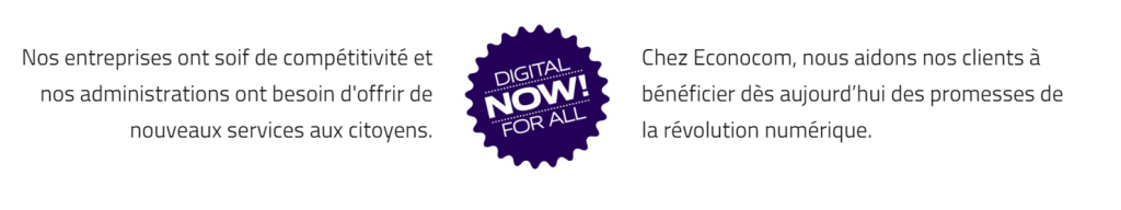 Econocom - Digital for All Now !